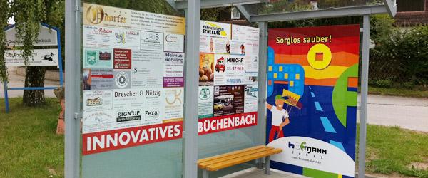 Beschriftung, Schaufenster in Büchenbach